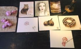 ワークショップ|日本画教室@みつるぎカフェ