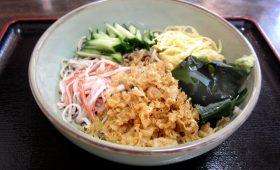 販売|夏の江古田の定番グルメ「冷やしたぬき蕎麦」